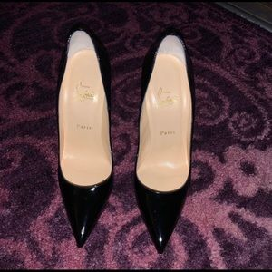 back patent leather Christian Louboutin heels